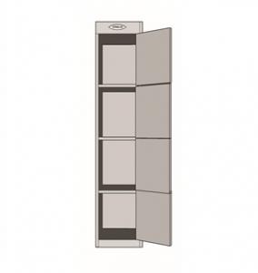 Steelco Personal Metal Locker 4 door