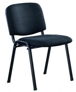Easy Visitors 4 leg Fabric Black Chair