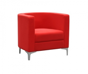 Miko Single Seater Tub - Lounge Chair Red Fabric