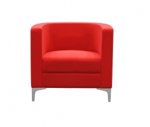 Miko Single Seater Lounge Chair Red Fabric