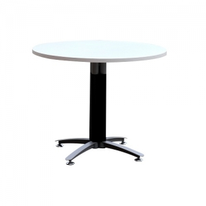 Round Meeting Table 1200Dia Black-Silver Grey Base