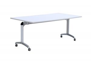 Flip Top Table White-Chrome Frame