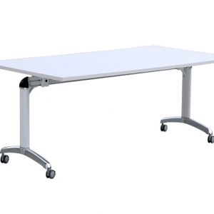 Flip Top Table White-Chrome Frame
