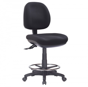 P350 Ergonomic Medium Back Office Chair, 3 Lever, Drafting with Footring