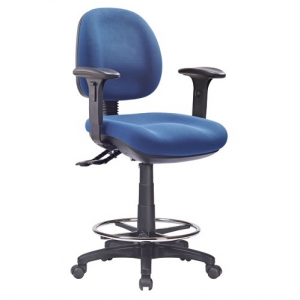 P350 Ergonomic Medium Back with Adjustable Arms Office Chair, 3 Lever, Drafting with Footring