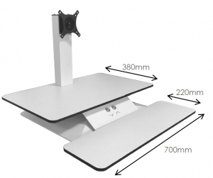 Standesk Sit Stand with Keyboard - Dimensions