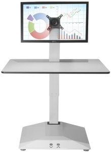 Standesk Electric Sit Stand Single Work Surface White
