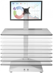 Standesk Sit Stand Single Work Surface White 6