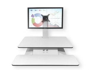Standesk Sit Stand with Keyboard White 1