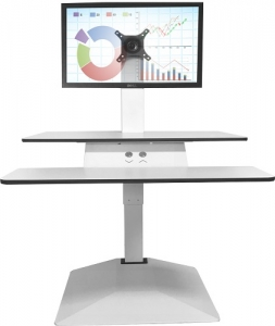 Standesk Sit Stand with Keyboard White 2