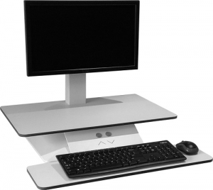 Standesk Sit Stand with Keyboard White 4