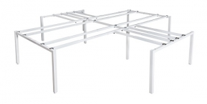Runway crucifix 4 way bench frame white