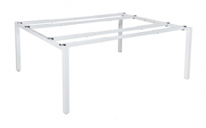 Runway double 2 person bench frame white