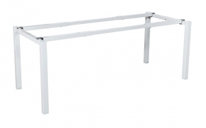 Runway single 1 person bench frame white