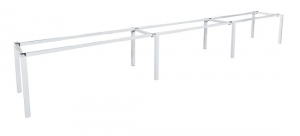 Runway single 3 person bench frame white