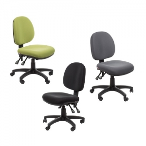 Bega Ergonomic Task 3 Lever Office Chair - Fabric Colours Green Black Grey