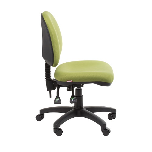 office chair back view. Bega Medium Back Ergonomic Office Chair View