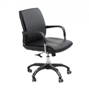 Carlton Executive Boardroom Black Bonded Leather Office Chair
