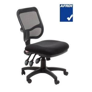 Eden AFRDI Approved Ergonomic Mesh Back 3 Lever Office Chair Black
