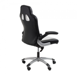 Racer Office Chair Black Back View | iOffice Furniture Sydney