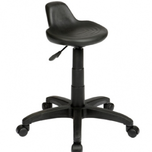Technician Lip Seat Gas Lift Black Stool