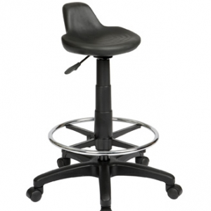 ST001D ST001 Technician Lip Seat Black Drafting Stool