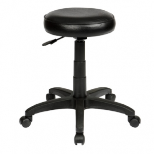 ST003 Utility Round Gas Lift Black Stool