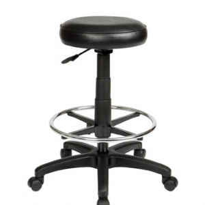 ST003D Utility Round Black Drafting Stool