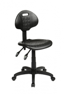 Industrial Ergonomic Gas Lift with 2 Lever Black Stool