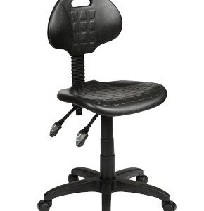 ST007 Industrial Ergonomic Gas Lift Black Stool
