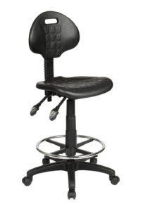 Industrial Ergonomic Gas Lift with 2 Lever Black Drafting Stool with Footring