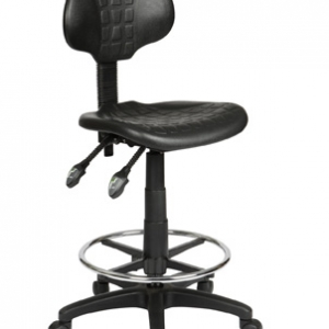 ST007D Industrial Ergonomic Gas Lift Black Drafting Stool