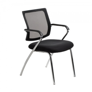 Townsville Visitors Mesh Back Black 4 Leg with Arms Office Chair