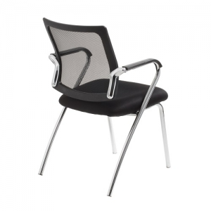 Townsville Visitors Mesh Back Black 4 Leg Office Chair