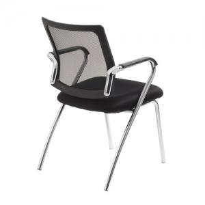 Townsville Visitors Mesh Back Black 4 Leg Office Chair