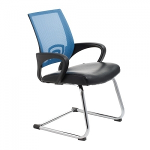 View Visitors Chair Blue Mesh | iOffice Furniture Sydney