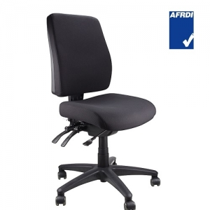 Ergoform AFRDI Approved Fully Ergonomic 3 Lever MB Chair Black