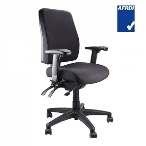 Ergoform AFRDI Approved Fully Ergonomic MB Chair with Arms Black