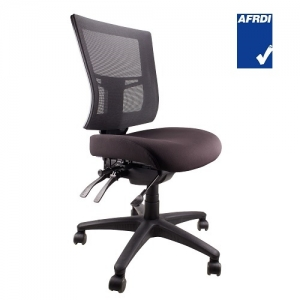 Madrid AFRDI Approved Fully Ergonomic 4 lever Mesh MB Chair Black