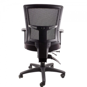 Madrid AFRDI Approved Ergonomic Mesh Back Padded Fabric Seat Chair Black