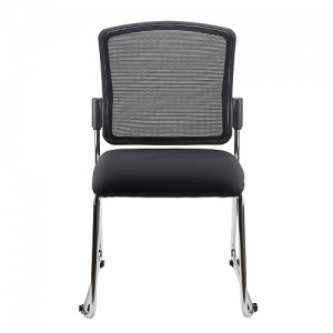 Spencer Visitors Mesh Back Padded Seat Sled Base Linking Chair Black