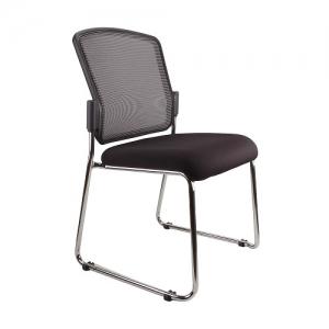 Spencer Visitors Mesh Back Padded Seat Sled Base Chair Black