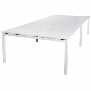 Runway Table 3000L-3600L x1500D White Frame Leg