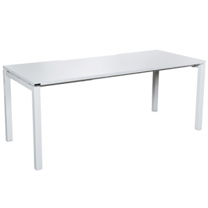 Runway Table-Desk 1500L-1800L x 750D White Square Leg Frame