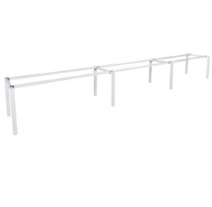 Runway Table Frame 4500L-5400L x 750D White Square Frame