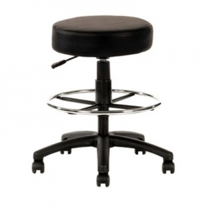 Utility Drafting Stool with Footring Black PU