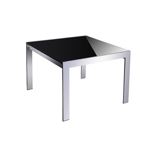 Forza coffee table black glass top 600 x 600 x 450h for Coffee table 600x600