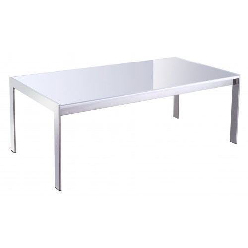 Forza coffee table white glass top 600 x 600 x 450h for Coffee table 600x600