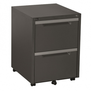 Steelco Classic Mobile Pedestal 2 Files in Graphite Ripple
