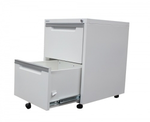 Steelco Classic Mobile Pedestal 2 Files in White Satin